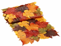 6' Long Artificial Maple Leaf Fall Table Runner