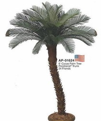 6' Outdoor UV Artificial Cycas Palm Tree - Non Potted