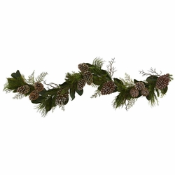 6' Pine Cone and Pine Artificial Garland Strand