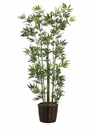 6' SILK BAMBOO TREE IN WILLOW PLANTER