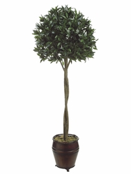 6' SWEET BAY BALL SILK TOPIARY IN CONTAINER