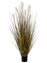 "60"" Artificial Pampas Grass Bush Plant in Plastic Pot  - Set of 4"