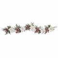 "60"" Frosted Magnolia Flower & Berry Artificial Garland"