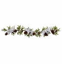 60� Phalaenopsis Orchid & Pine Garland