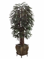 7.5' Rhapis Artificial Tree in Metal Container