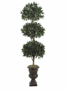 "76"" (6' - 4"") BAYLEAF SILK TOPIARY IN URN"