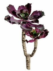 "8"" Artificial Double Head Ruffle Sedum Pick Cactus (shown in purple)"