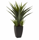 """30"""" Artificial Agave Plant with Black Planter"""