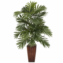 "32"" Areca Palm with Bamboo Vase Silk Plant"