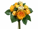 "Artificial 11.5"" Silk  Rose and Hydrangea Bouquet - Set of 6"