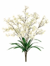 "Artificial 24"" Tweedia Flower Bush - Set of 12 (shown in cream)"