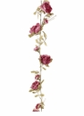 Artificial Antique Dried Look Rose Garland - Set of 12