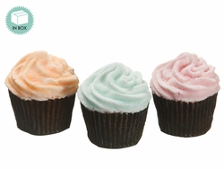 Artificial Assorted Cupcake (3 ea./Box - 4 Boxes) Mixed  - Bakers Dozen (12)