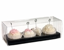 Artificial Cake Place Card Holder  with 4 in an Acetate Box - Set of 8 Boxes
