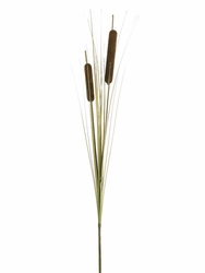 "32"" Artificial Brown Cattail Spray x 2 - Set of 12"
