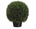 "18"" Diameter Artificial Cedar Ball Topiary Plant"