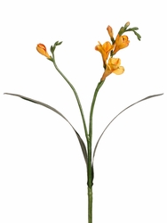 Artificial Silk Freesia Spray Stem-Set of 12 (Shown in Yellow)