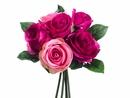 "Artificial Silk Rose 9.5"" Wedding Bouquet Flowers - Set of 12 (shown in Beauty/Rose)"