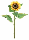 "31"" Artificial Silk Sunflower Stems - Set of 12"