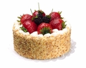 Artificial Soft Touch Cake with Strawberry & Raspberry Fruit