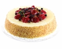 Artificial Soft Touch Cheese Cake Topped with Strawberry and Raspberry Fruit - Set of 3