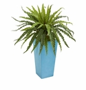 Asplenium Artificial Plant in Turquoise Planter -