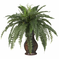 "28"" Artificial Boston Fern with Urn Silk Plant"