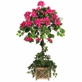"34"" Bougainvillea Topiary with Wood Box"