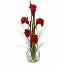 "18"" Calla Lilly Artificial Flower in Liquid Illusion"