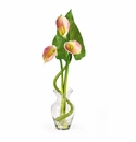 "24"" Calla Lilly Liquid Illusion With Leaf Silk Flower Arrangement"