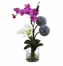 "26"" Calla, Orchid & Ball Artificial Flower Arrangement"