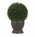 "14"" Cedar Ball Topiary Silk Plant"
