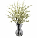 "30"" Artificial Cherry Blossoms Flower Arrangement in Vase - White"