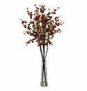 "38"" Tall Cherry Blossom Silk Flower Arrangement"