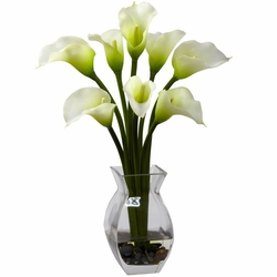 "16"" Classic Calla Lily Arrangement - Cream"