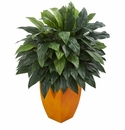 Cordyline Artificial Plant in Orange Planter -