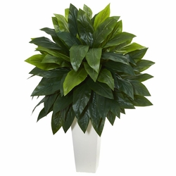 "40"" Cordyline Artificial Plant in White Tower Planter"