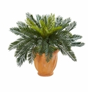 Cycas Artificial Plant in Terracotta Planter -