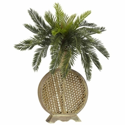 "25"" Cycas with Decorative Vase Silk Plant"