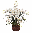 "30"" Cymbidium w/Decorative Vase Silk Arrangement"