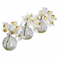 "8"" Cymbidium w/Vase  Silk Flower Arrangement (Set of 3)"