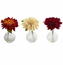 Dahlia w/Decorative Vase (Set of 3)