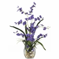 "19"" Dancing Lady Orchid Liquid Illusion Silk Flower Arrangement - Purple"