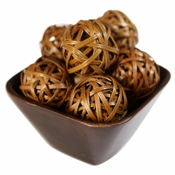 Decorative Weaved Balls (Set of 12)