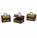 Decorative Chest w/Map (Set of 3)