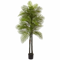 7' Artificial Double Robellini Palm Tree UV Resistant (Indoor/Outdoor) -