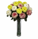 "31"" Artificial Fancy Rose Silk Flower Arrangement - Assorted"