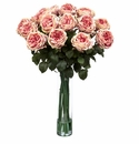 "31"" Artificial Fancy Rose Silk Flower Arrangement - Pink"