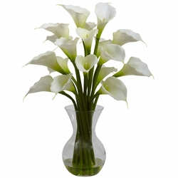 "26"" Galla Calla Lily in Vase Artificial Arrangement"