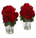 Geranium Artificial Arrangement (Set of 2) -